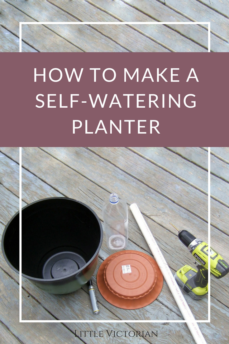 how to make a self watering planter