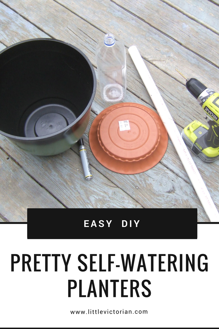 how to make a self watering planter from any pot