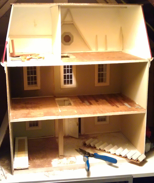 Open floorplan dollhouse