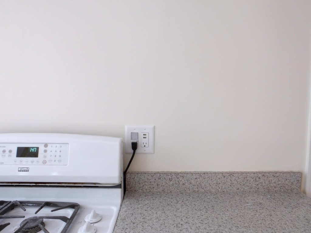 Built in USB outlets in kitchen