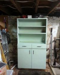 Painted old metal cabinet