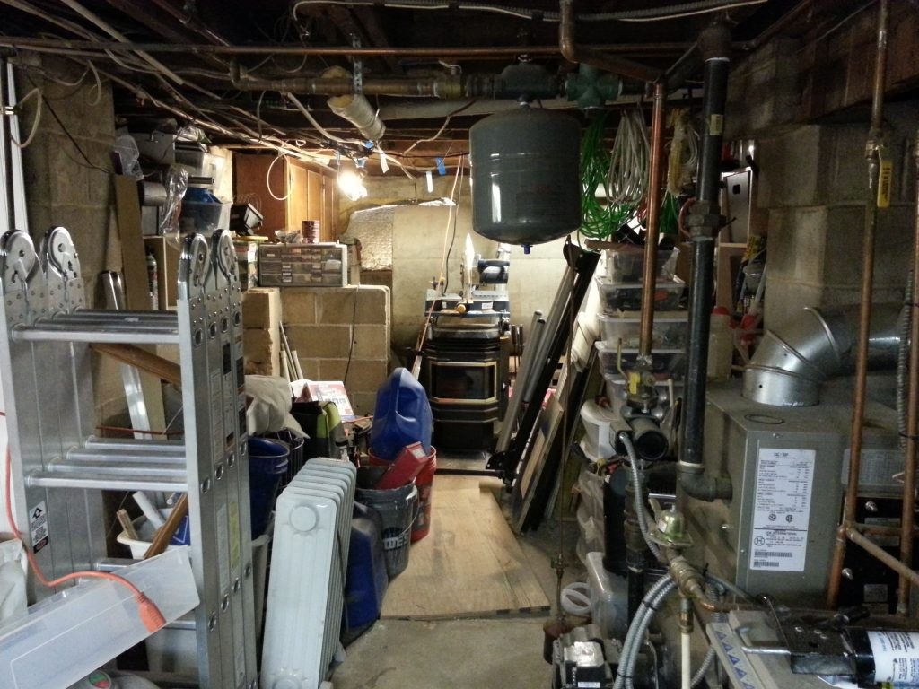 organizing the basement