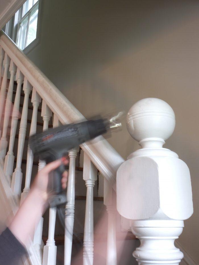 Stripping paint with heat gun (6)