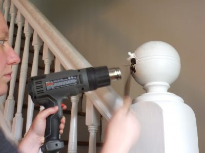 How to strip paint with a heat gun
