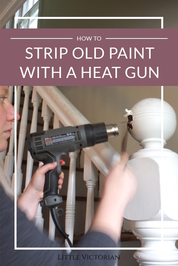 stripping paint with a heat gun