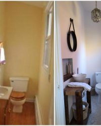 Powder room before and after | Little Victorian