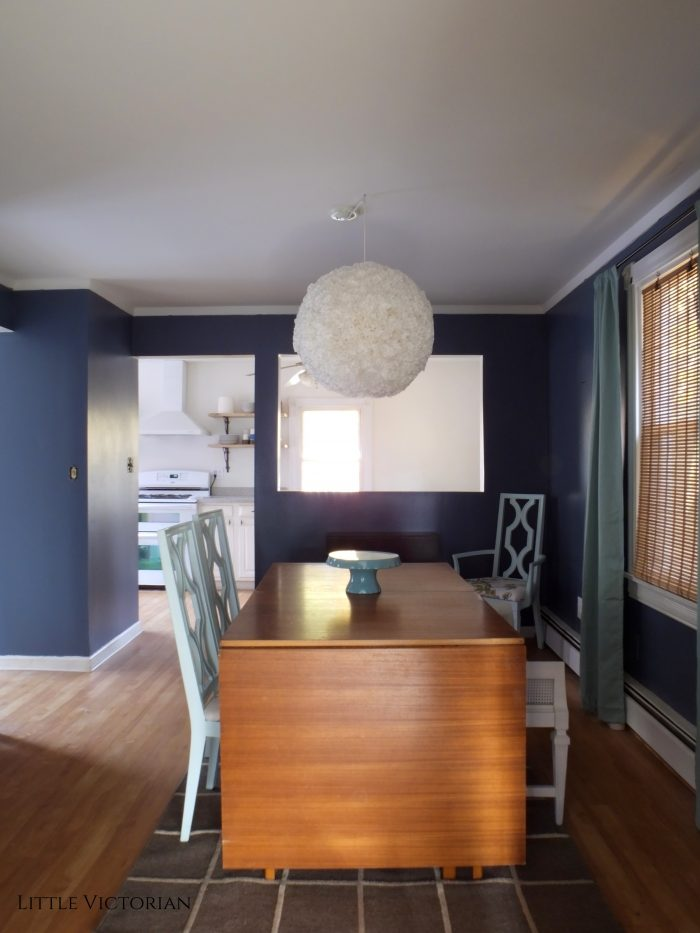 Dark blue dining room | Little Victorian