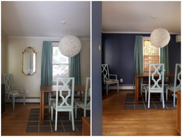 dining room before and after paint