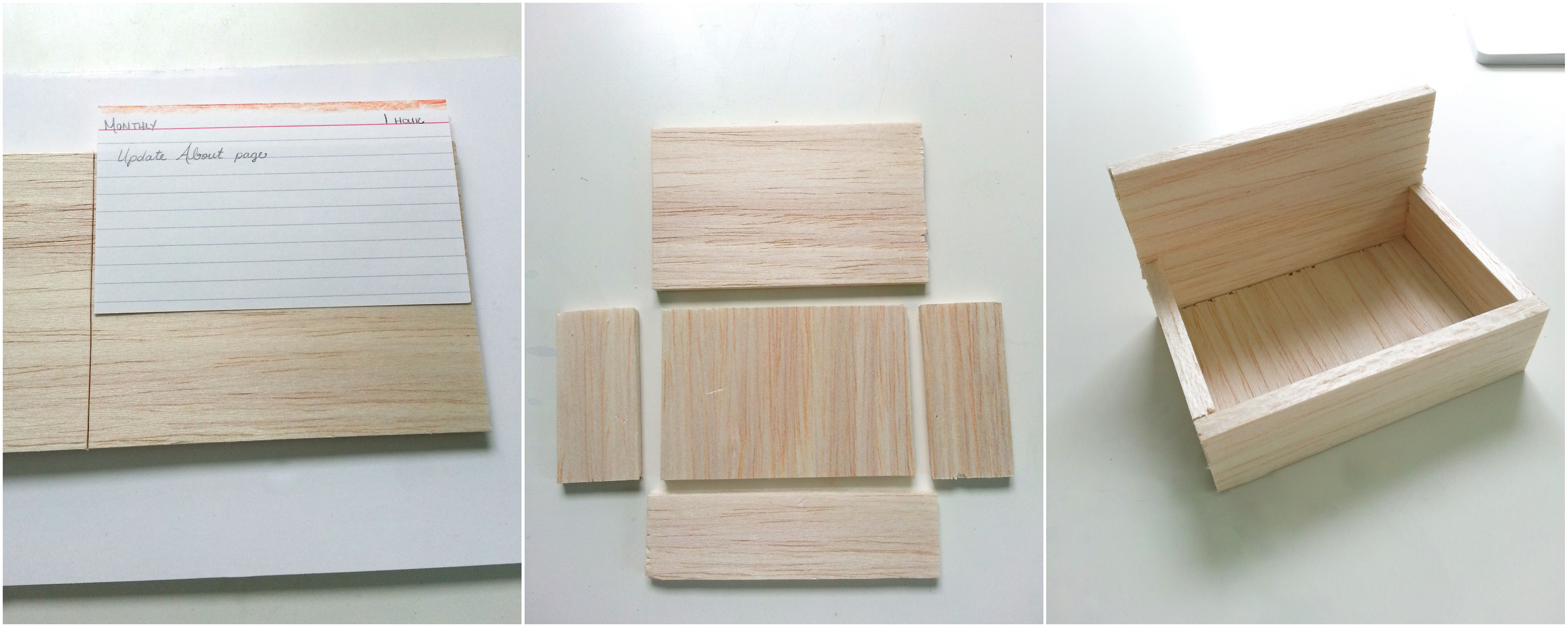Orderly housekeeping and another failed project little for Wooden box tutorial