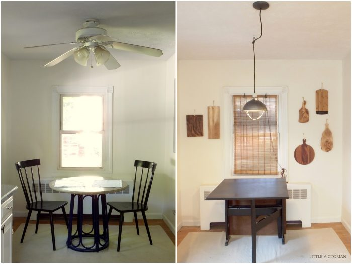before, ceiling fan, after, industrial light