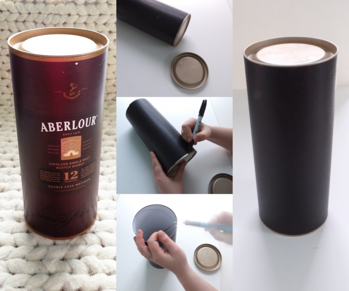 DIY faux leather container