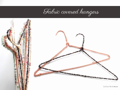 DIY fabric covered hangers | Little Victorian