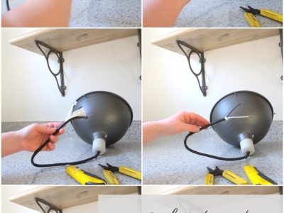 How to turn a plug-in light into a ceiling light (and save a lot of money)