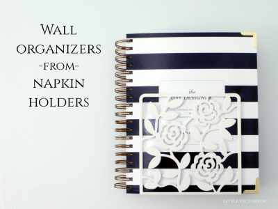 Turning napkin holders into wall organizers–again