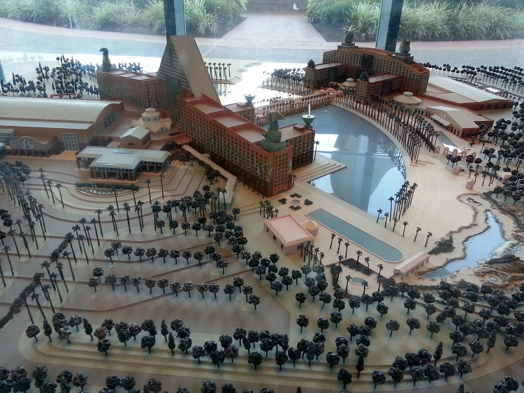 A scale model of our hotel.