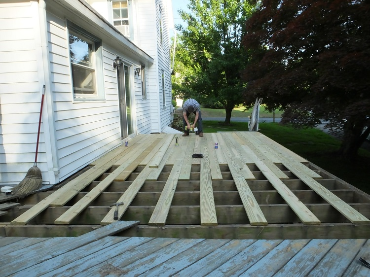 rebuilding the deck