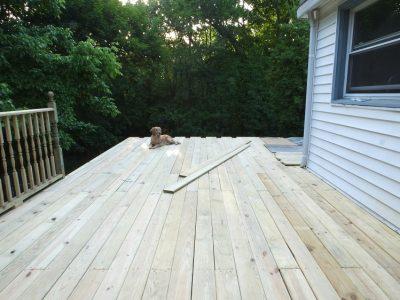 Major progress on the new deck!