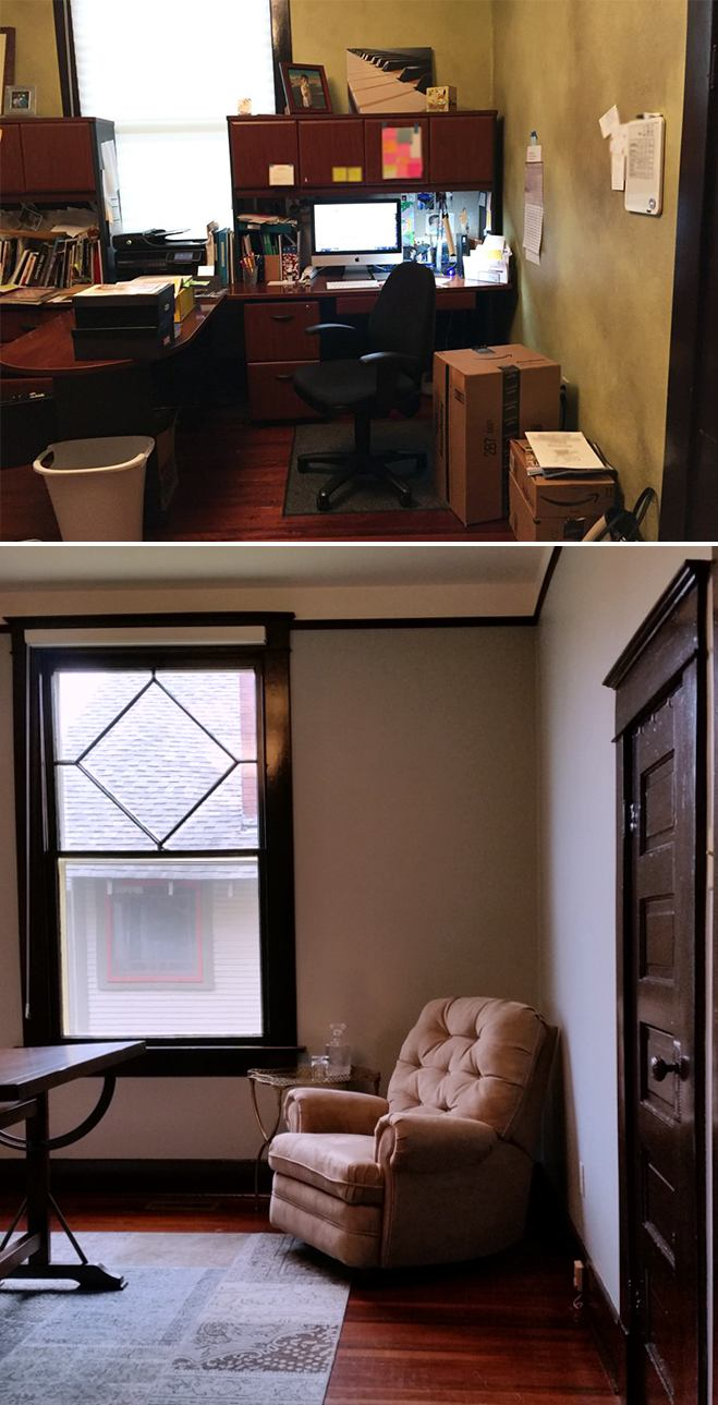 office before and after 1