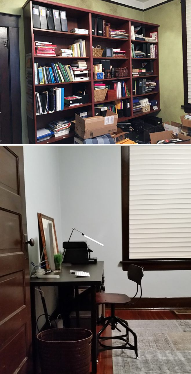 office before and after 2