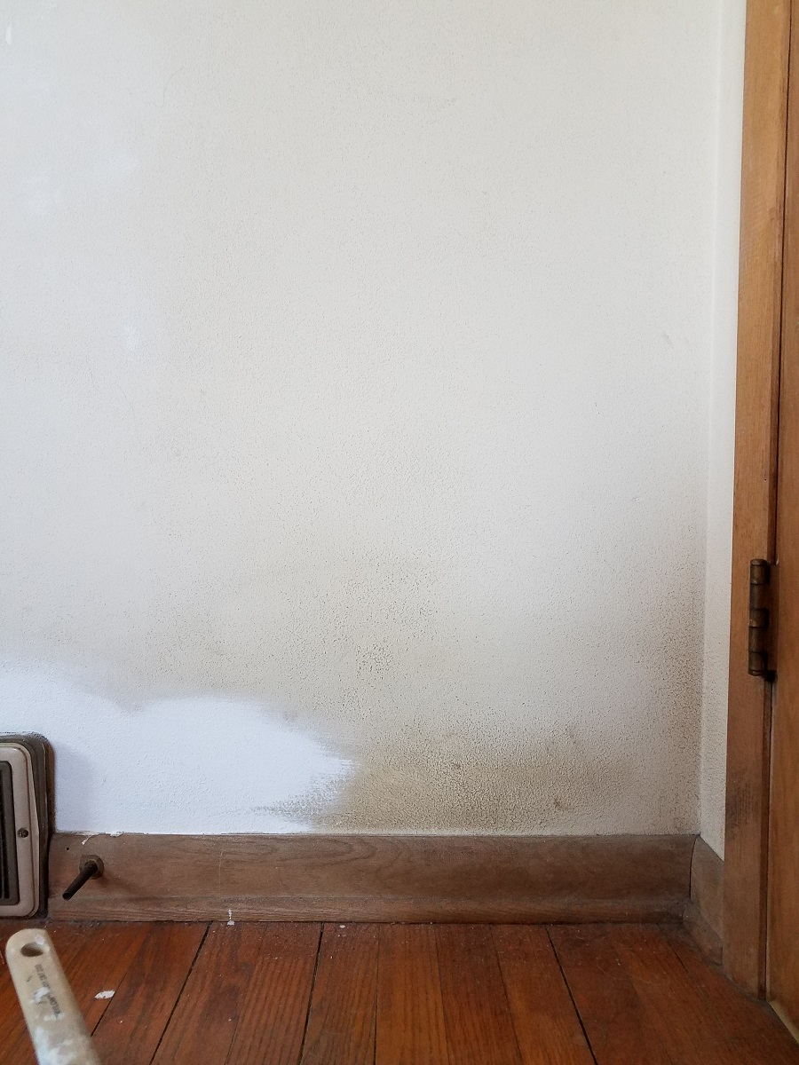 painting over stained wall