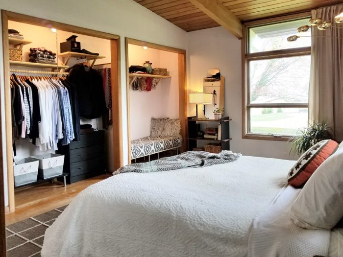 The MCM Bedroom and open closet